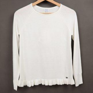 Sweter dziewczęcy z falbanką, 152