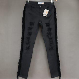 Spodnie damskie z dziurami, rozmiar 46