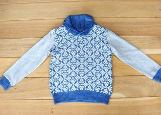 Sweter chłopięcy, rozmiar 122