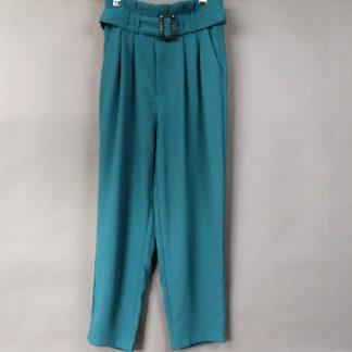 Spodnie damskie z prosta nogawką, rozmiar 38