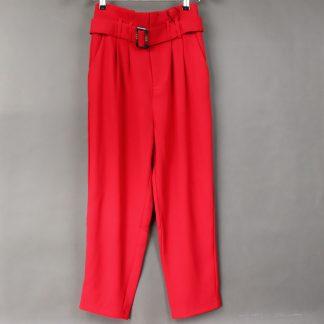 Spodnie damskie z prostą nogawką, rozmiar 38