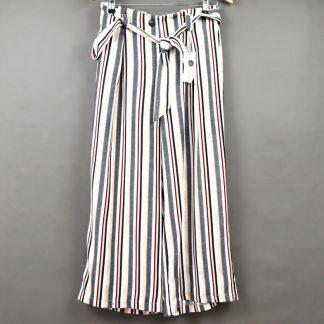 Spodnie damskie w paski rozmiar L