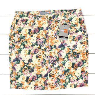 Spódnica damska w kwiaty, rozmiar 48