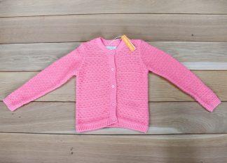 Sweter dziewczęcy rozpinany rozmiar 98