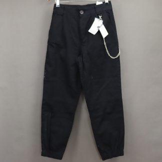 Spodnie damskie z łańcuchem, rozmiar M