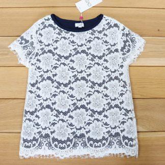 Koszulka dziewczęca z koronką rozmiar 146