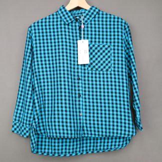 Koszula dziewczęca w kratę rozmiar 140