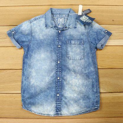 Koszula chłopięca jeansowa rozmiar 128